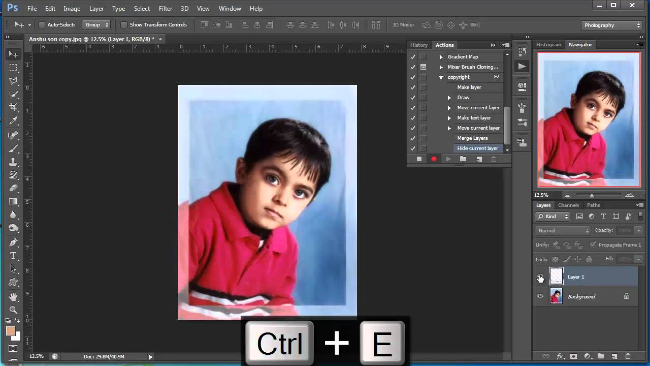 how to add copyright in photoshop