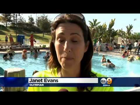 Janet Evans & World Record Largest Swim Lesson 2014
