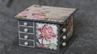 Шкатулка из спичечных коробков(При помощи спичечных коробков, цветной бумаги, клея ПВА и вашей фантазии, вы можете сотворить маленькое..., 2014-04-27T06:38:46.000Z)