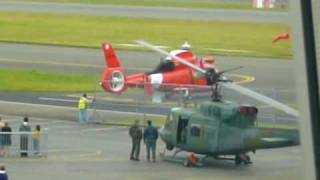 US Coast Guard HH-65 Dolphin Warms Up
