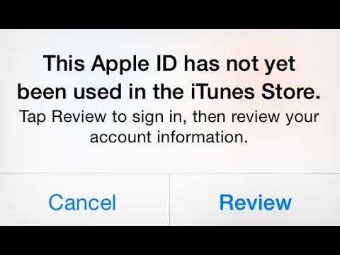 This Apple ID Has Not Yet Been Used In The The Itunes Store ! How To Fix 2018