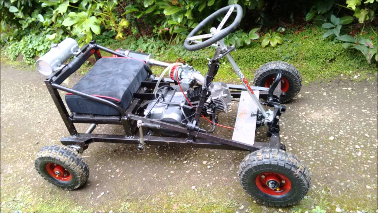 125cc mid engine shifter go kart home made