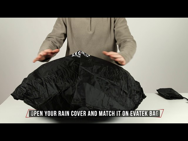 Rain Cover on Evatek handpan bag -  Hardcase Technologies Official Tutorial