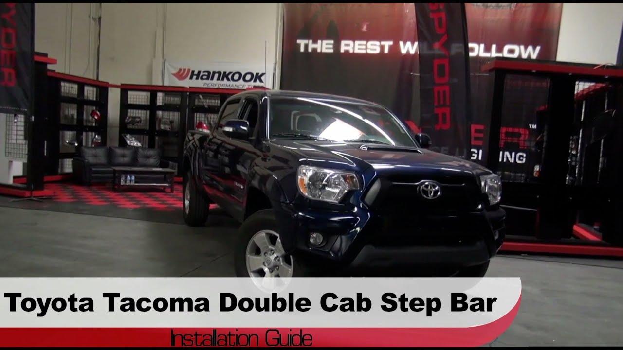 Toyota Tacoma Double Cab >> Spyder Auto Installation: 2005-13 Toyota Tacoma Double Cab Step Bars - YouTube