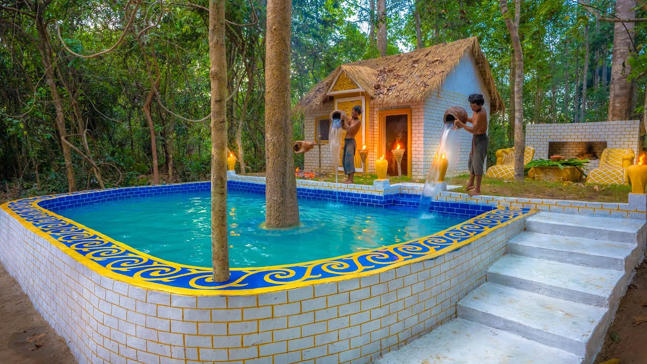 Download Build Billionaire Swimming Pool for Jungle Residence Villa House
