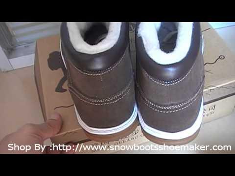 2013 UGG Australia Boots,UGG Mens Coffee Nubuck Leather Casual Sheepskin Winter Shoes