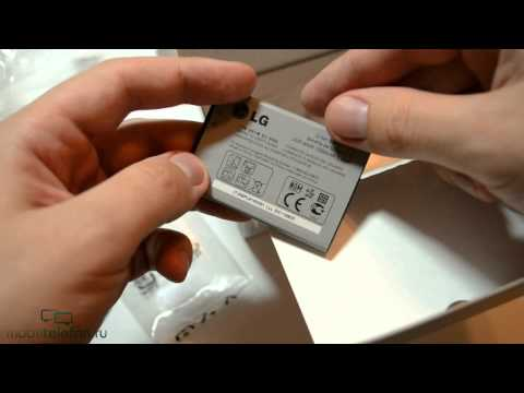 Распаковка LG Optimus One P500 (unboxing)