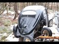 1956 Oval window Volkswagen Beetle found on a farm in NW CT : Vw Bug hunting : Rescue