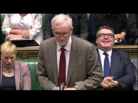 PMQs  Jeremy Corbyn David Cameron on tax figures   BBC News