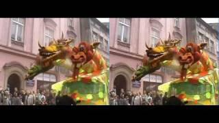 Wielka Parada Smoków  w Krakowie w 3D, 2004r.  - test2