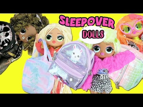 LOL Surprise OMG Surprise Fashion Dolls Sleepover + What's in my Purse Surprise | Toy Caboodle