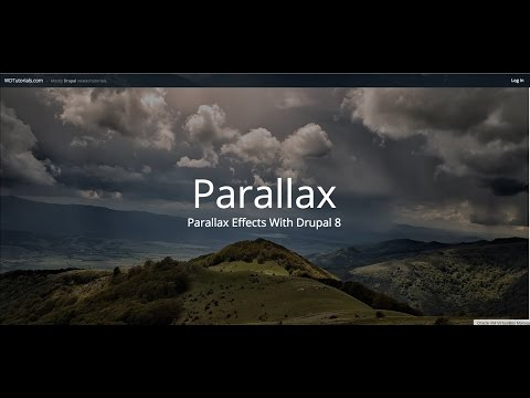 How To Create Parallax Effects (Drupal 8 Tutorial)