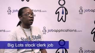 Big Lots Interview - Stock Clerk