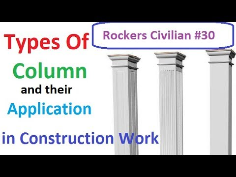 types of column and their application in construction field in hindiurdu