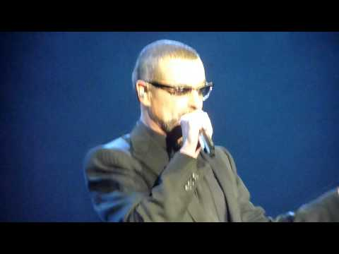 George Michael talking to the crowd in Holland (Rotterdam)