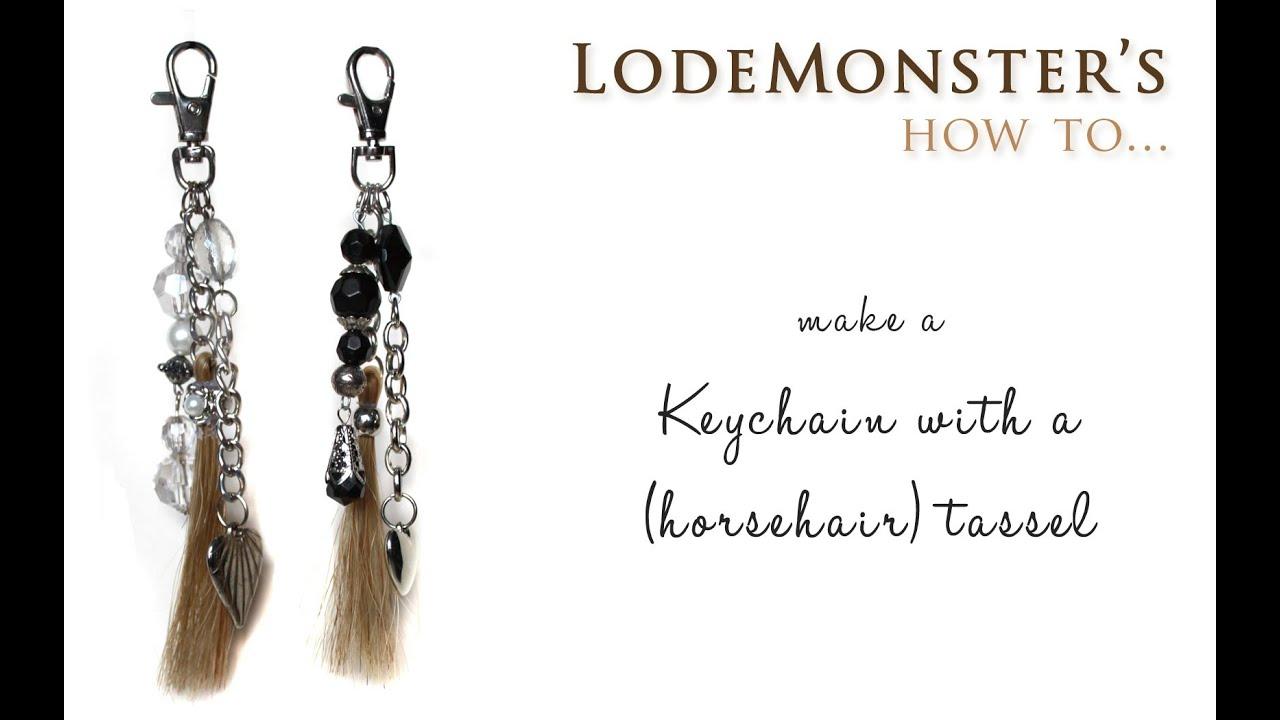Diy keychain with a horsehair tassel youtube solutioingenieria Choice Image