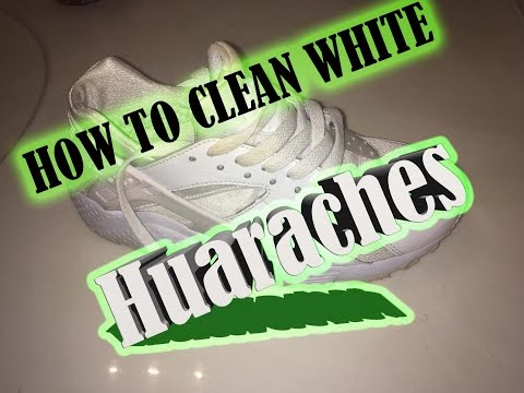 How To Clean All White Shoes : Huaraches