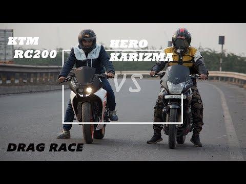 KTM RC 200 Vs Hero Karizma 225 || Drag Race || Horizon Riders