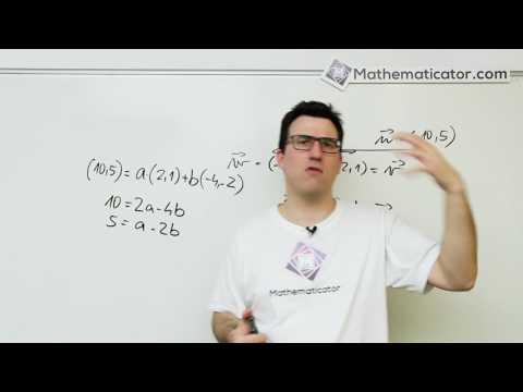 Analytická geometrie 17 - Vektory - Vektor jako LK jiných rovnoběžných vektorů