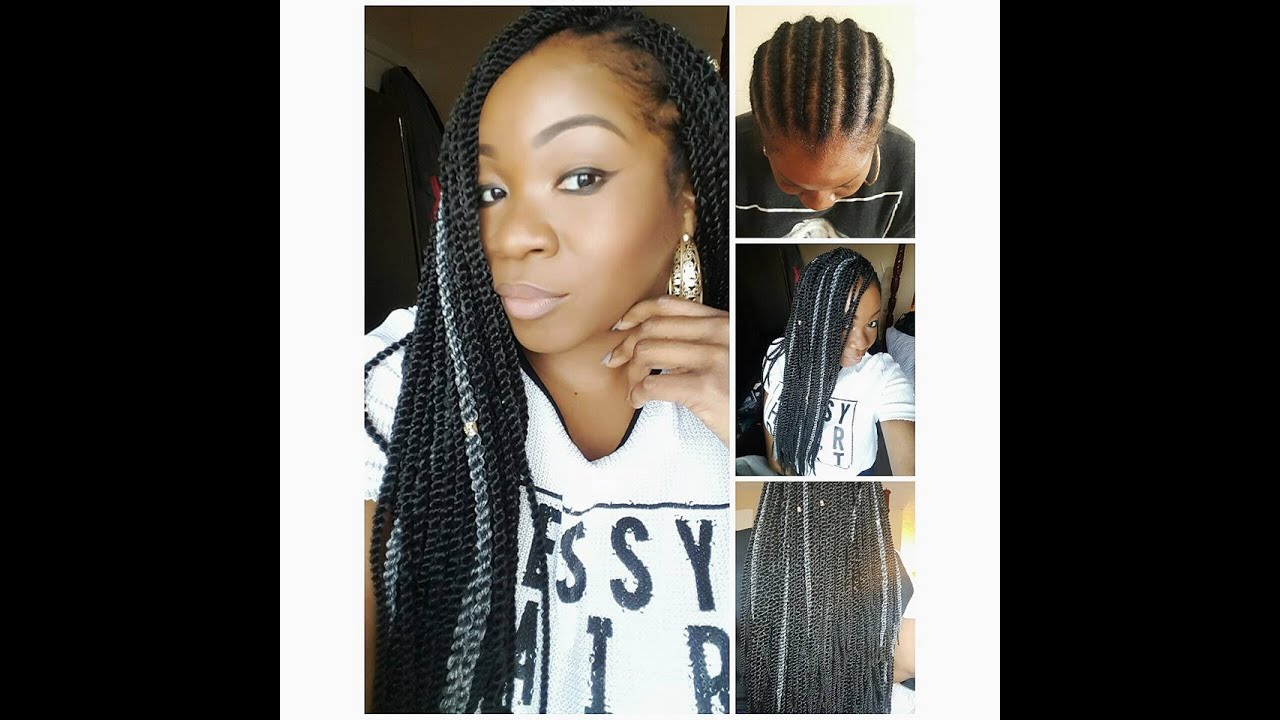 Super EASY Senegalese Twist SMALL Crochet braids - YouTube