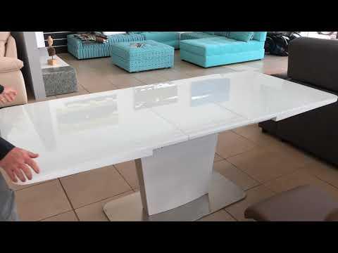 Mesa de comedor moderna extensible 962