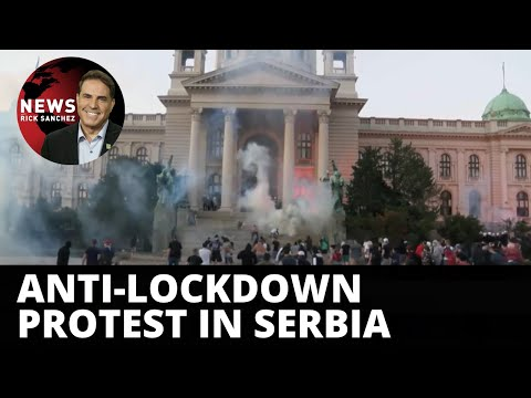 Rioters demand 'no more lockdowns' in Serbia