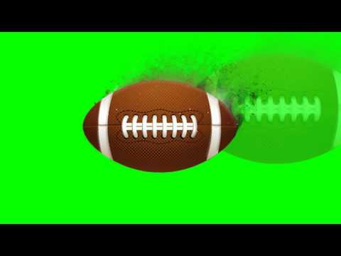 American Football Ball Fly - Green Screen Footage Free