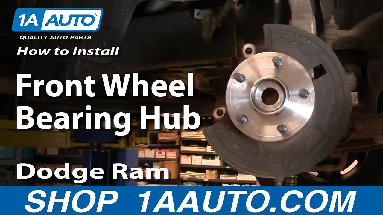 medium resolution of how to install repair replace front wheel bearing hub dodge ram 1500 02 08 buy auto parts 1aauto com