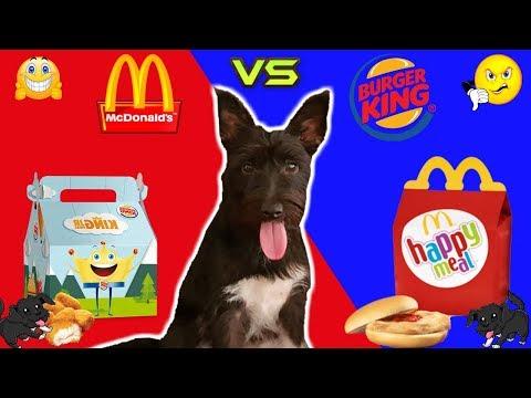 MC DONALDS vs BURGER KING! ¿ Qué comida prefiere mi PERRO? Funny dogs Lana