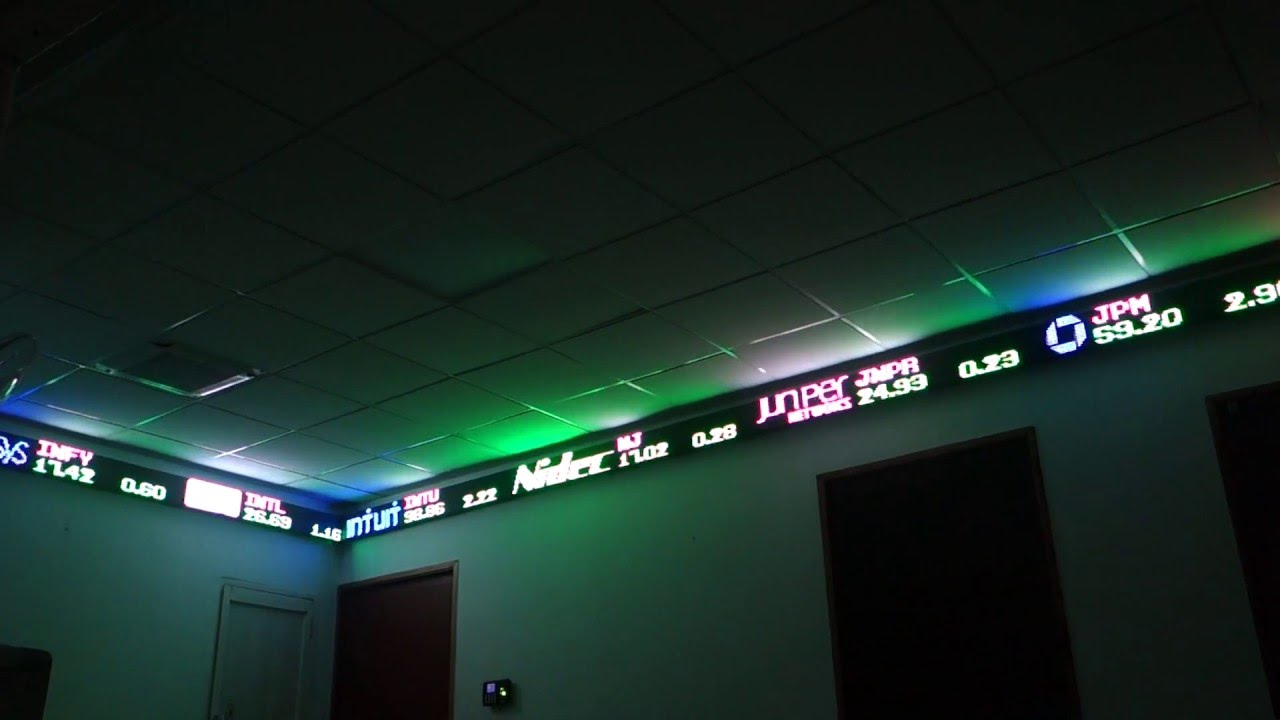 Led Stock and Financial Ticker Tape Bar in North America - Tickerplay - YouTube