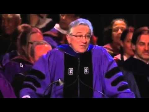 Robert De Niro's Blunt, Inspiring Speech to NYU Arts Grads