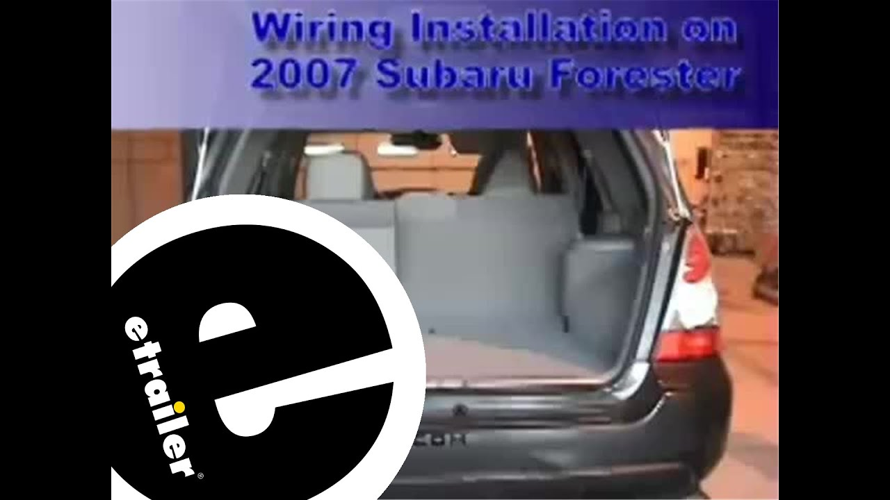 Subaru Forester Tow Bar Wiring Diagram Real 2007 Engine Trailer Harness Installation Rh Youtube Com 2001 Parts