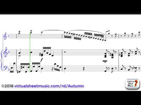 Antonio Vivaldis Concerto Autumn from Four Seasons sheet music for violin and piano   Score