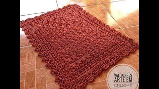 Tapete em Crochê com modelo bem simples e dicas para ajudar vocês