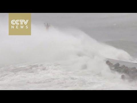 Typhoon makes landfall in NE Japan