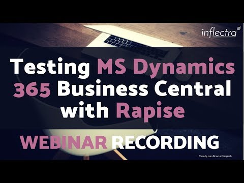 Webinar Recording: Testing MS Dynamics 365 Business Central
