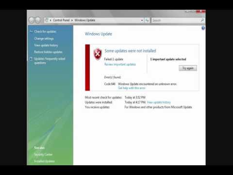 Windows Update Error 646.wmv