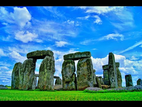 Beautiful Stonehenge and Temple Visuals with Relaxing Meditation Music - Sleeping Music - Yoga Music