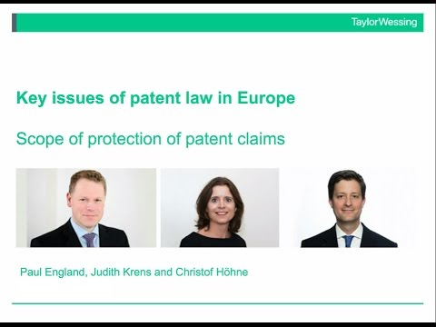 Key issues of patent law in Europe: scope of protection of p