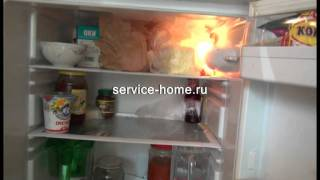 Ремонт холодильников Indesit - утечка газа(Видео показывает как выглядит утечка газа в двухкамерном, однокомпрессорном холодильнике Indesit., 2011-09-06T14:23:08.000Z)