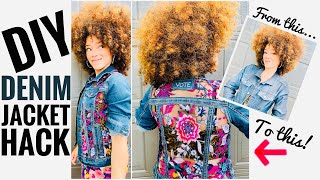 DIY DENIM JACKET! With or without sewing!