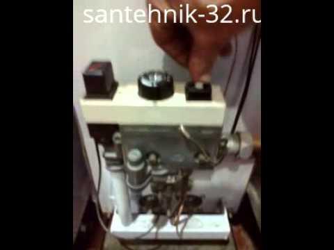 Регулировка пламени пилотной горелки (запальника) котла автоматика .