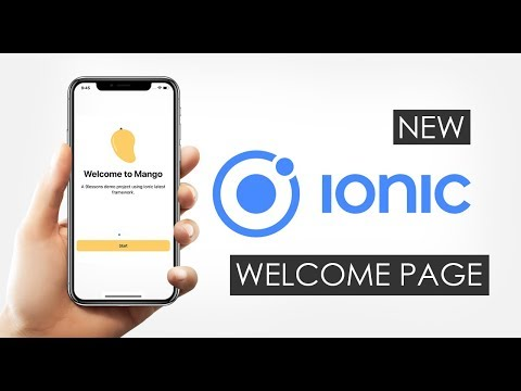 New Ionic 5 Angular 8 Welcome Page with Login, Sign Up and Home Tabs using Capacitor thumbnail