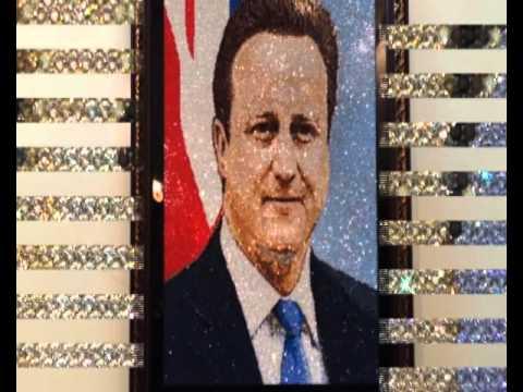 Mr. David Cameron's crystal portrait