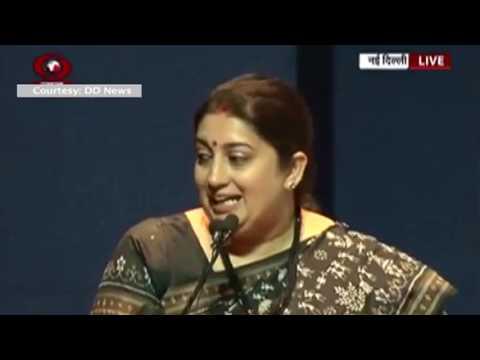 HMIB Smt. Smriti Irani addresses a programme of  'Festival of India', in New Delhi.