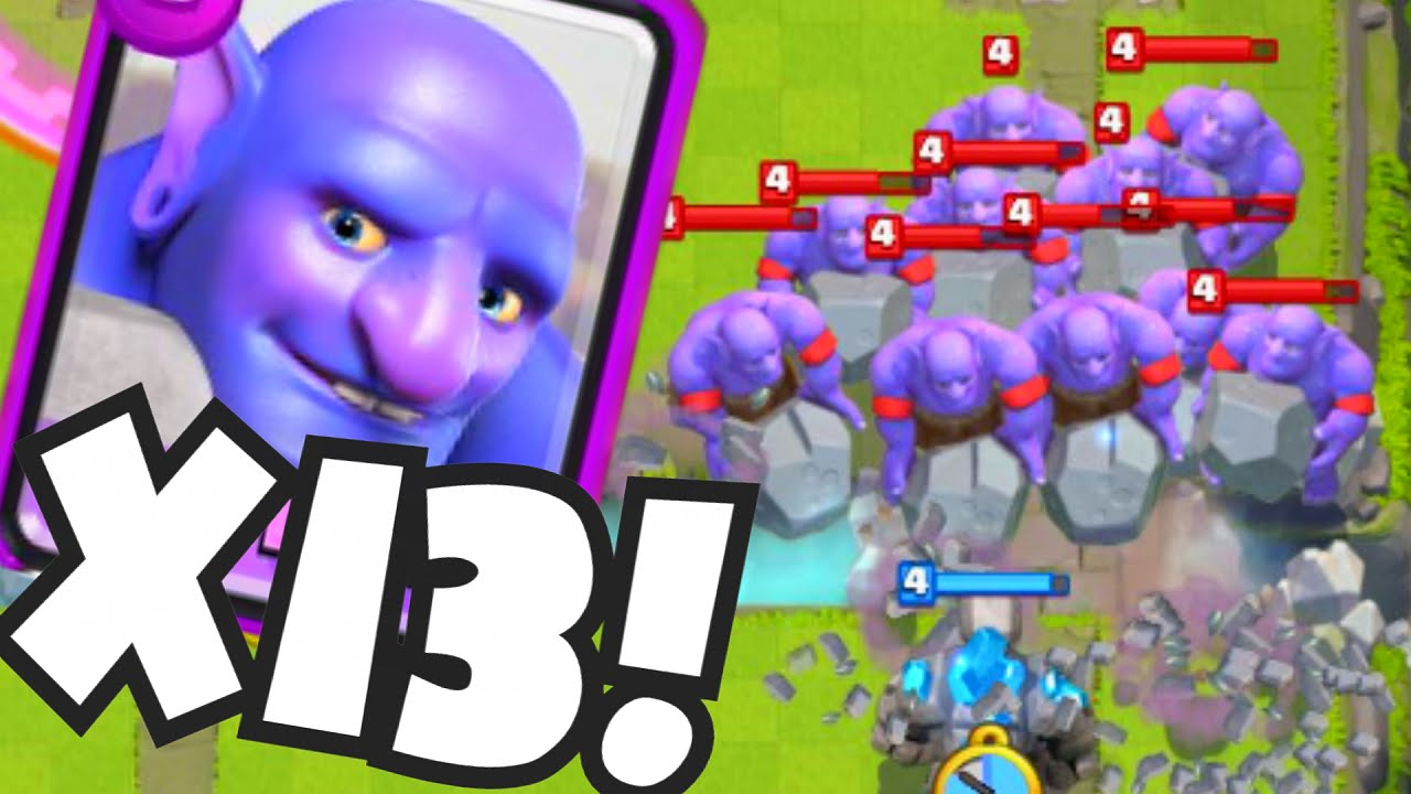 Clash Royale 13 BOWLERS | BEST BOWLER DECK STRATEGY (Maxed Level ...