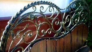 Красивые быльца, кованая кровать из металла и дерева, идеи дизайна