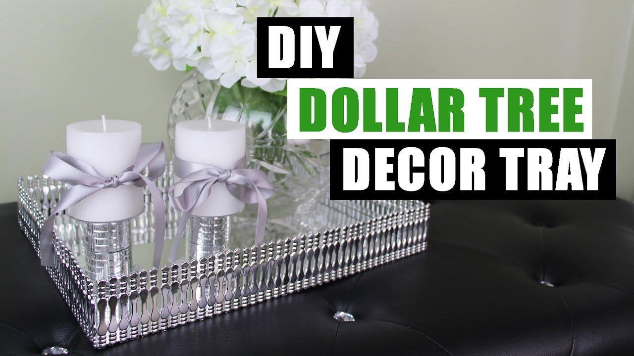 Diy Dollar Tree Decor Tray Dollar Store Diy Mirror Tray Diy Mirror Glam Decor Tray
