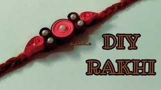 handmade rakhi | diy rakhi | easy quilling rakhi | friendship band diy