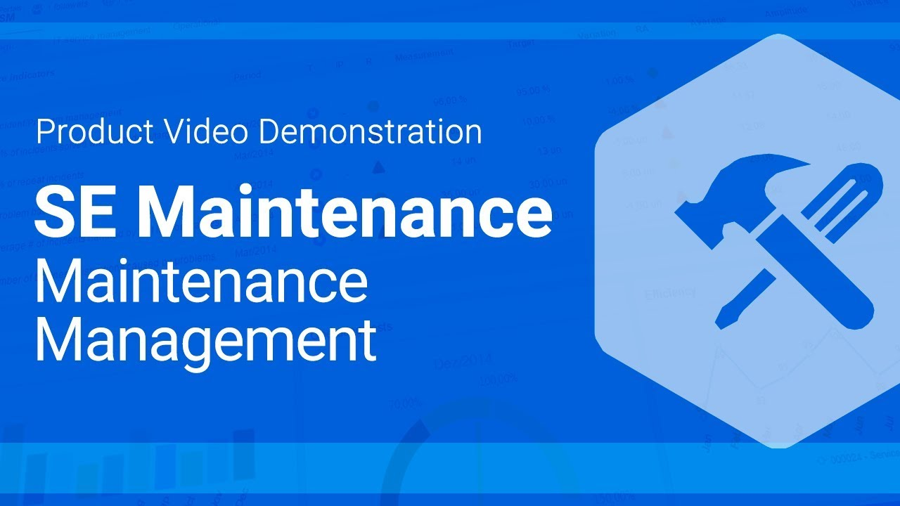 software maintenance Maintenance software can also be used by the senior management team to generate reports, roll up maintenance costs into their financial reporting systems, track incidents, measure productivity, and ensure compliance with government regulations.